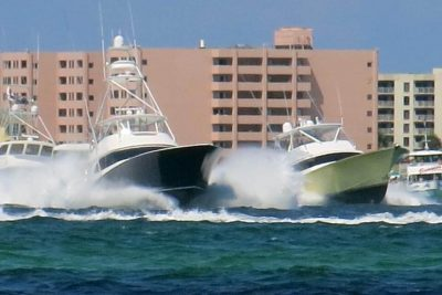 ECBC Boats Blast Out of Destin | photo by Capt. Dave Lear